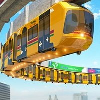 Elevated Train Driving Simulator 3D